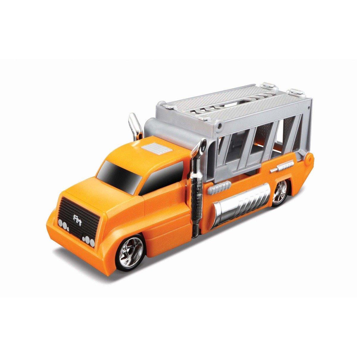 Set masinuta, camion si cheie Maisto, Portocaliu