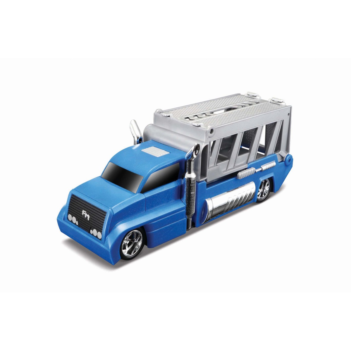 Set masinuta, camion si cheie Maisto, Albastru/Portocaliu