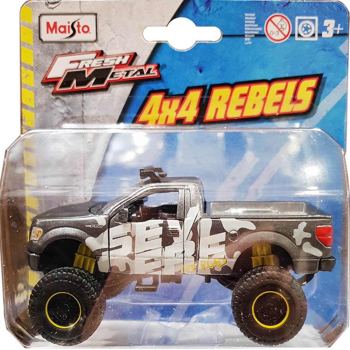 Masinuta Maisto Fresh Metal, 4X4 Rebels, 11 cm, 1:64, Gri