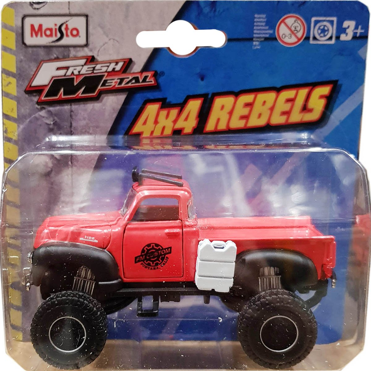 Masinuta Maisto Fresh Metal, 4X4 Rebels, 11 cm, 1:64, Rosu