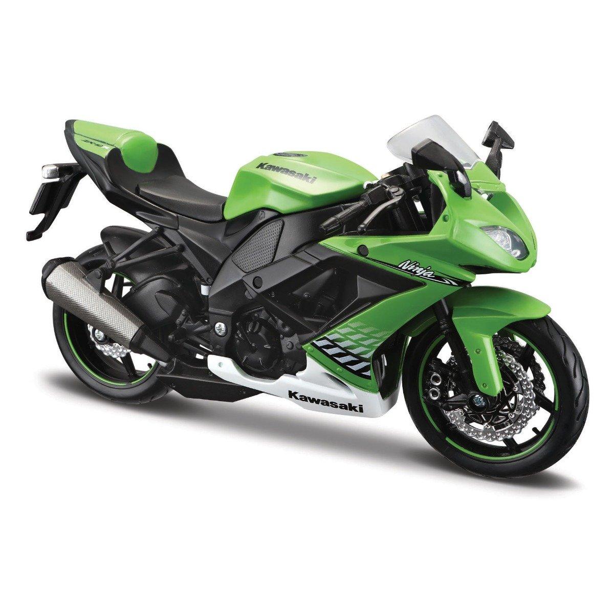 Motocicleta Maisto Kawasaki Ninja 2R-6R, 1:12