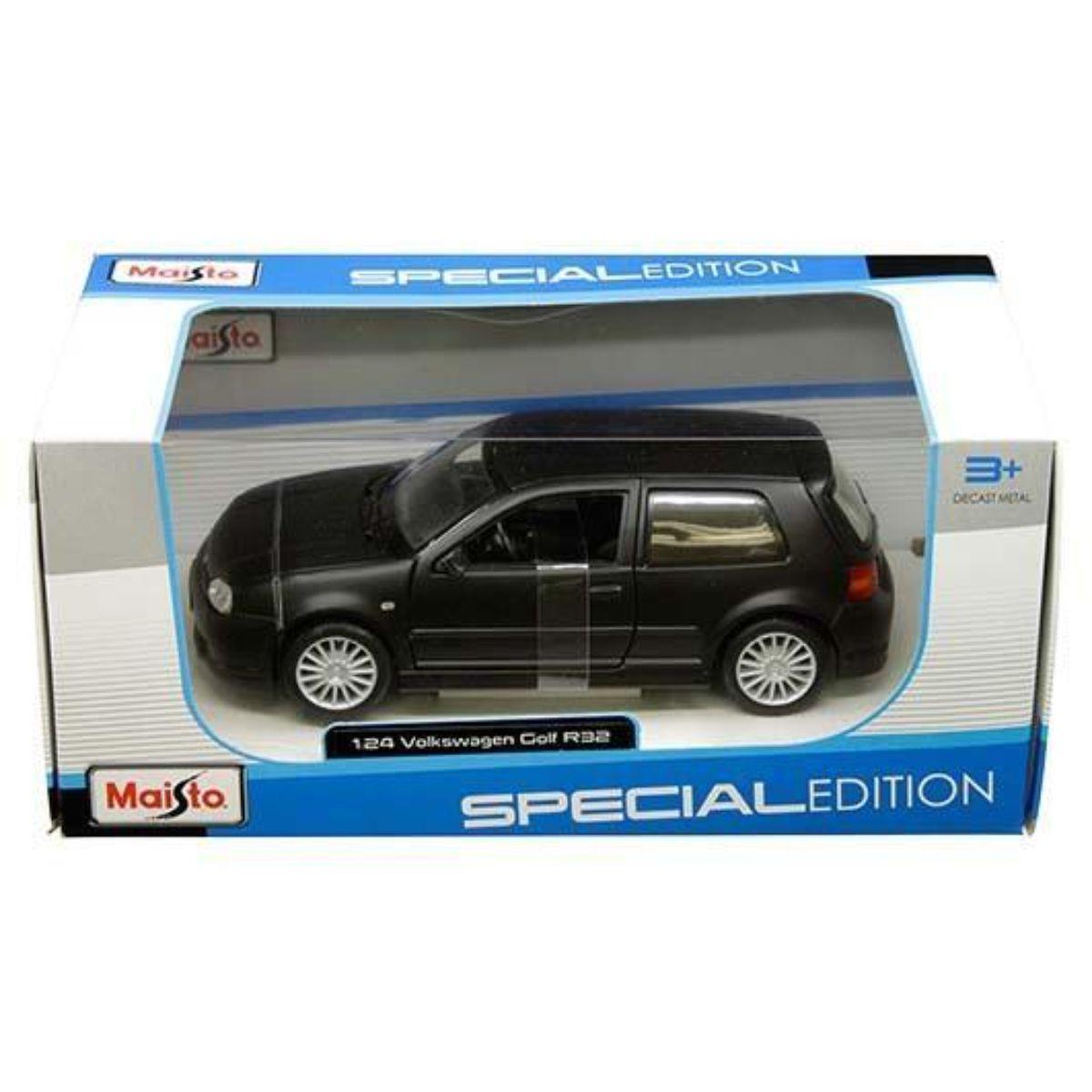Masinuta Maisto Volkswagen Golf R32 1:24, Negru