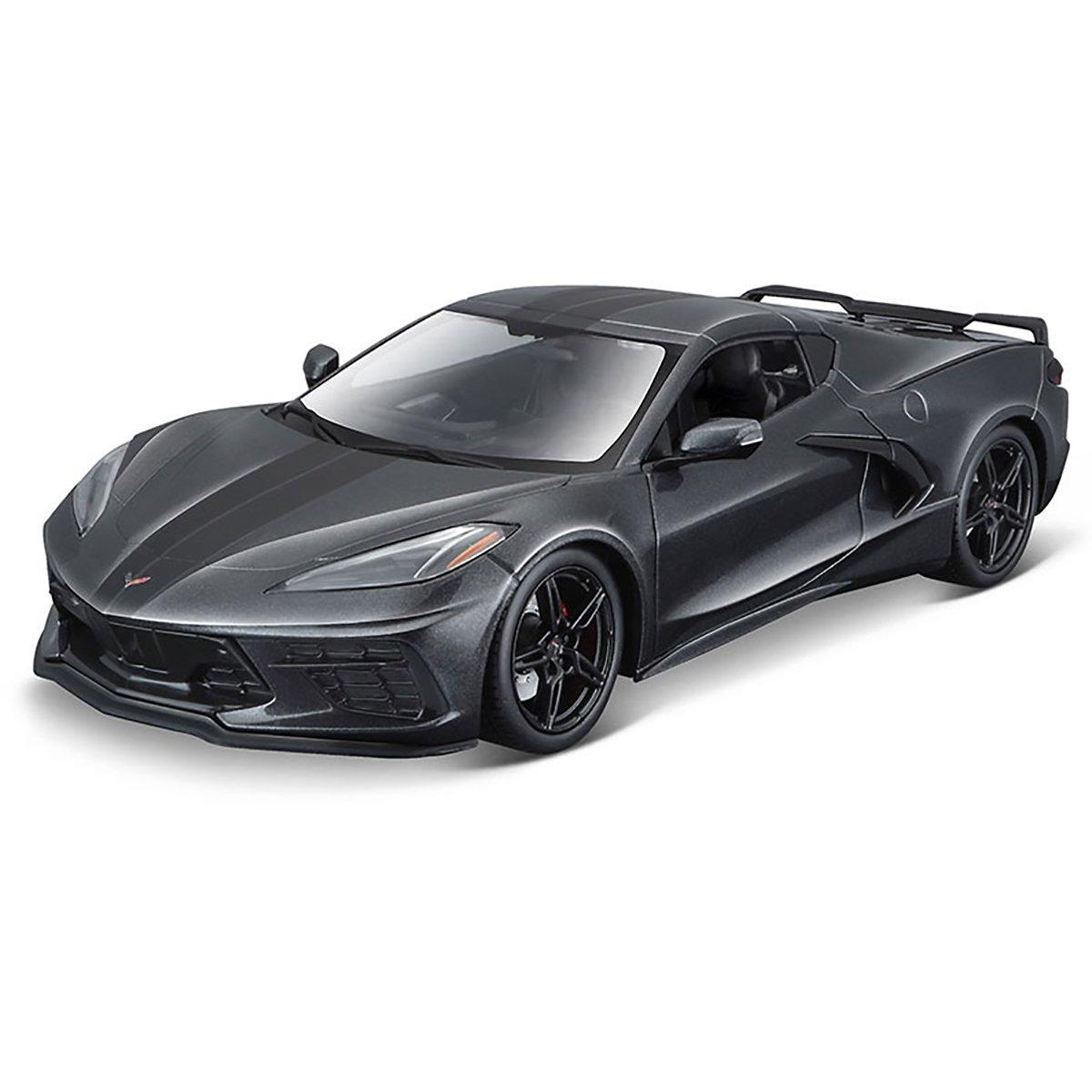 Masinuta Maisto Chevrolet Corvette Stingray Coupe 2020, 1:18, Gri