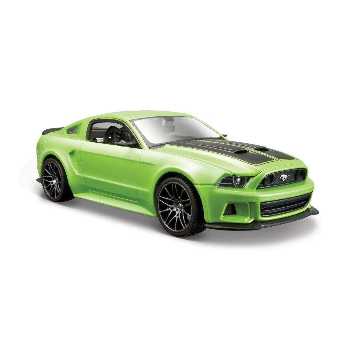 Masinuta Maisto Ford Mustang Street Racer 2014, 1:24, Verde