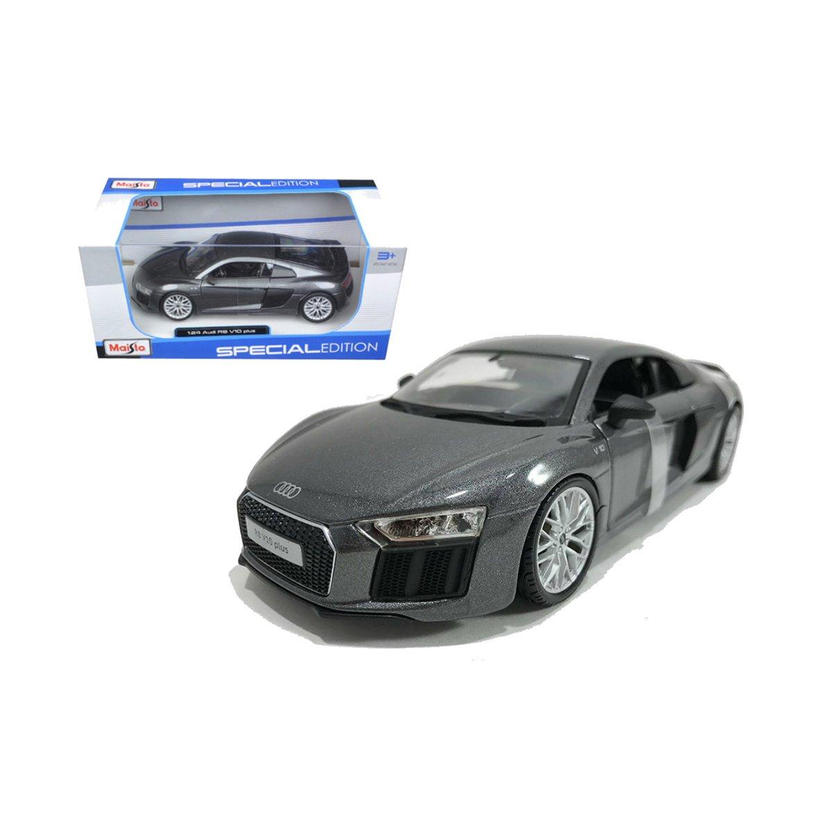 Masinuta Maisto Audi R8 V10 Plus, 1:24, Gri