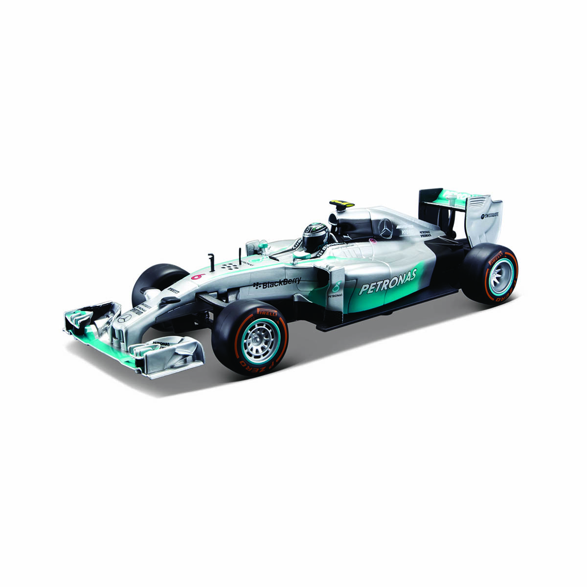Masinuta cu telecomanda Mercedes F1W05 Maisto, 1:24