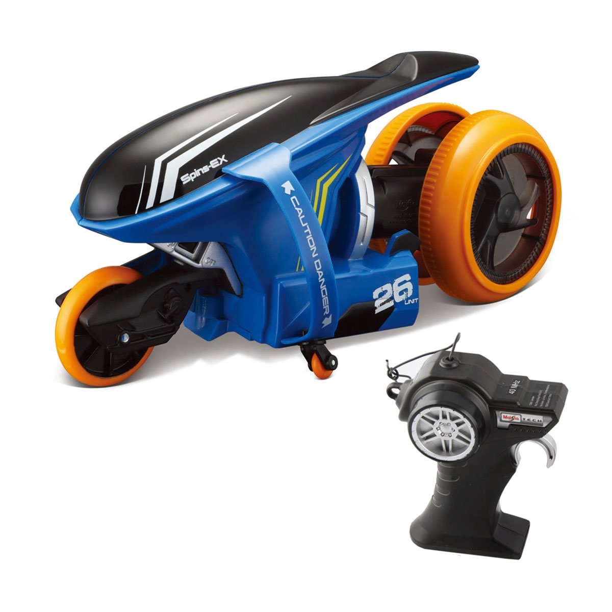 Motocicleta cu telecomanda Cyklone 360 Maisto, Albastru, 27 MHz