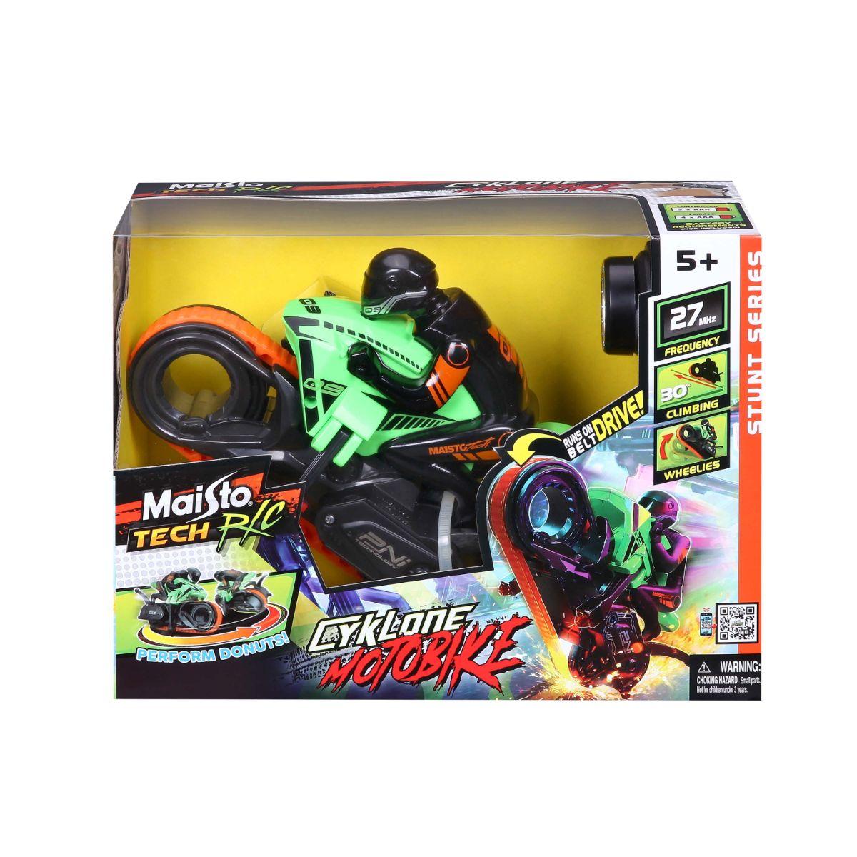 Motocicleta cu telecomanda, Maisto, Tech Cyklone Motobike, verde