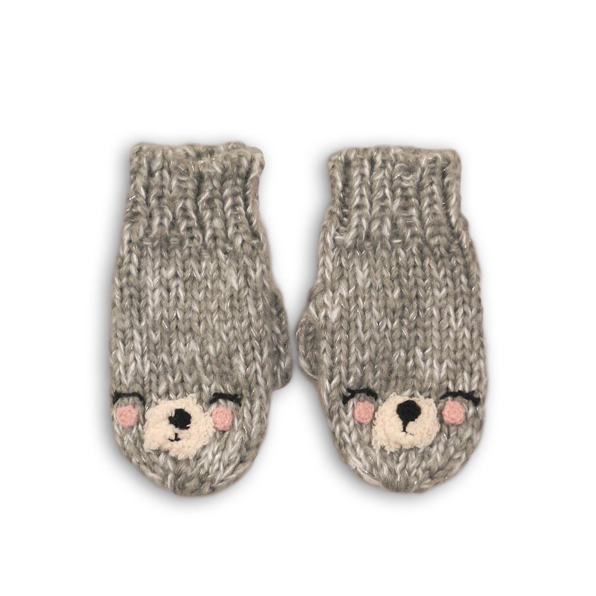 Manusi tricotate cu broderie Minoti imagine