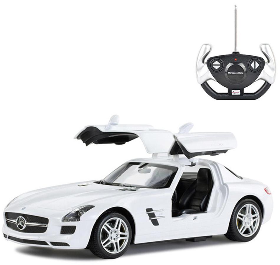 Masina cu telecomanda Rastar Mercedes Benz SLS AMG 1:14 - Alb imagine