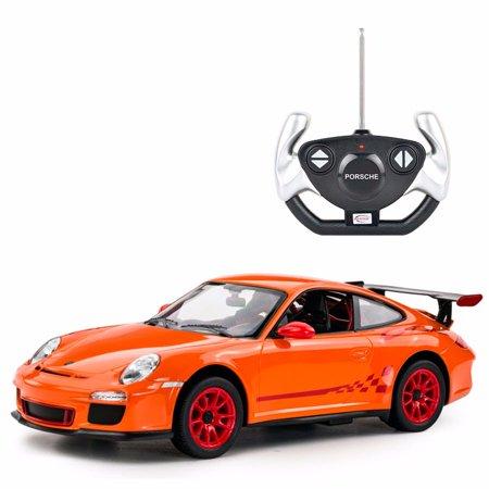 Masina cu telecomanda Rastar Porsche GT3 1:14, Portocaliu