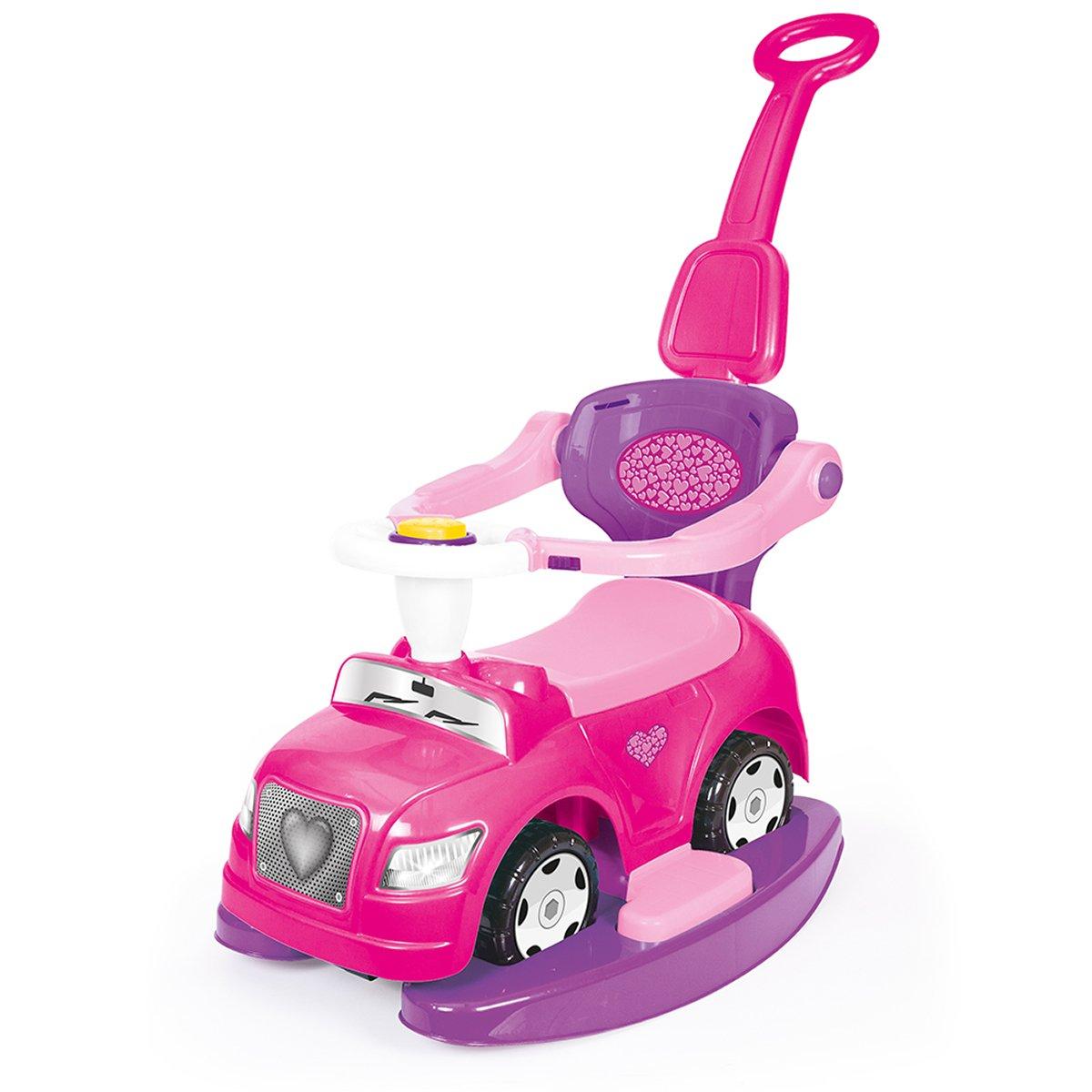 masinuta fara pedale 4 in 1 dolu - step car, roz