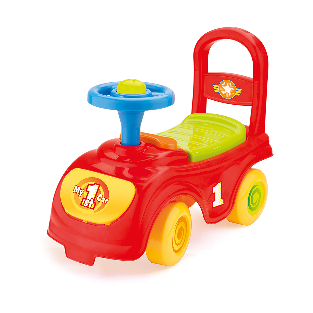 masinuta fara pedale dolu my 1st ride, rosu
