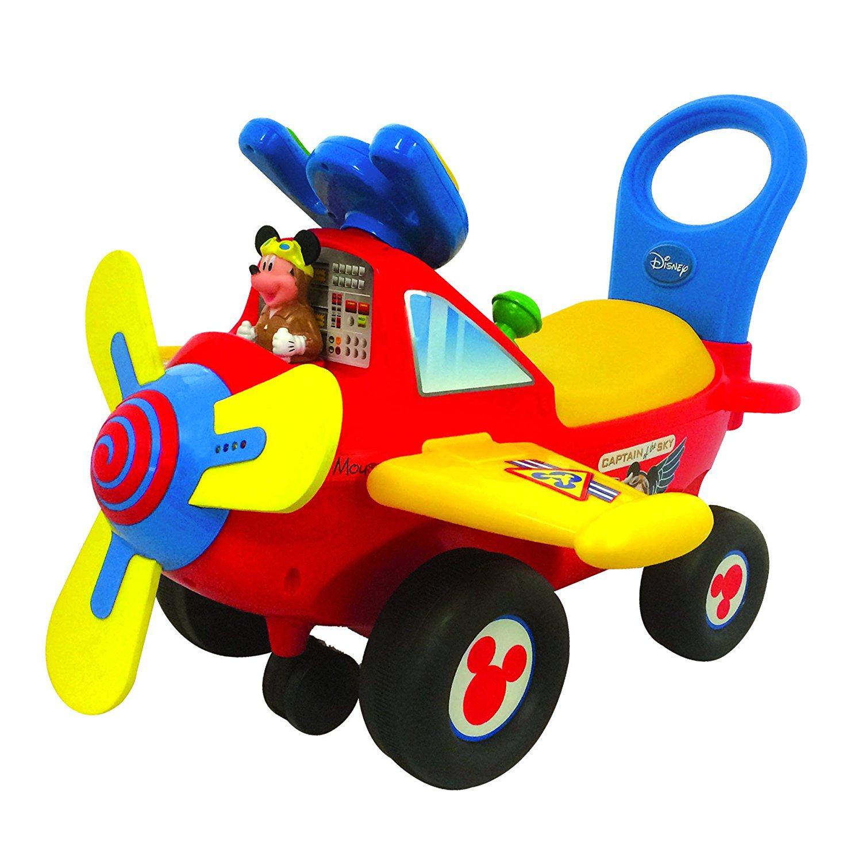 masinuta fara pedale kiddieland - primul meu avion mickey mouse