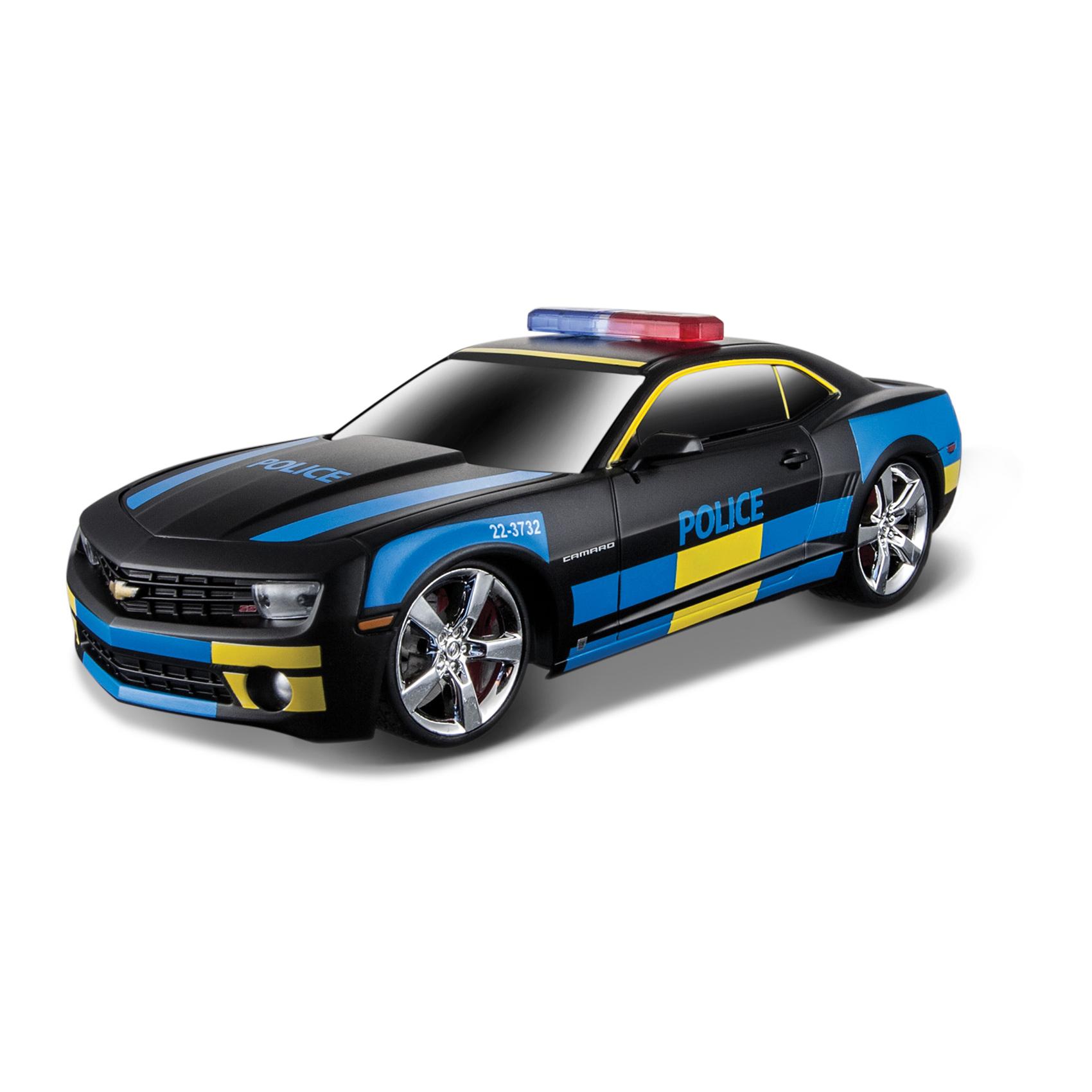 Masinuta Maisto MotoSounds Chevrolet Camaro SS RS 2010 (masina de politie) 1:24,Negru