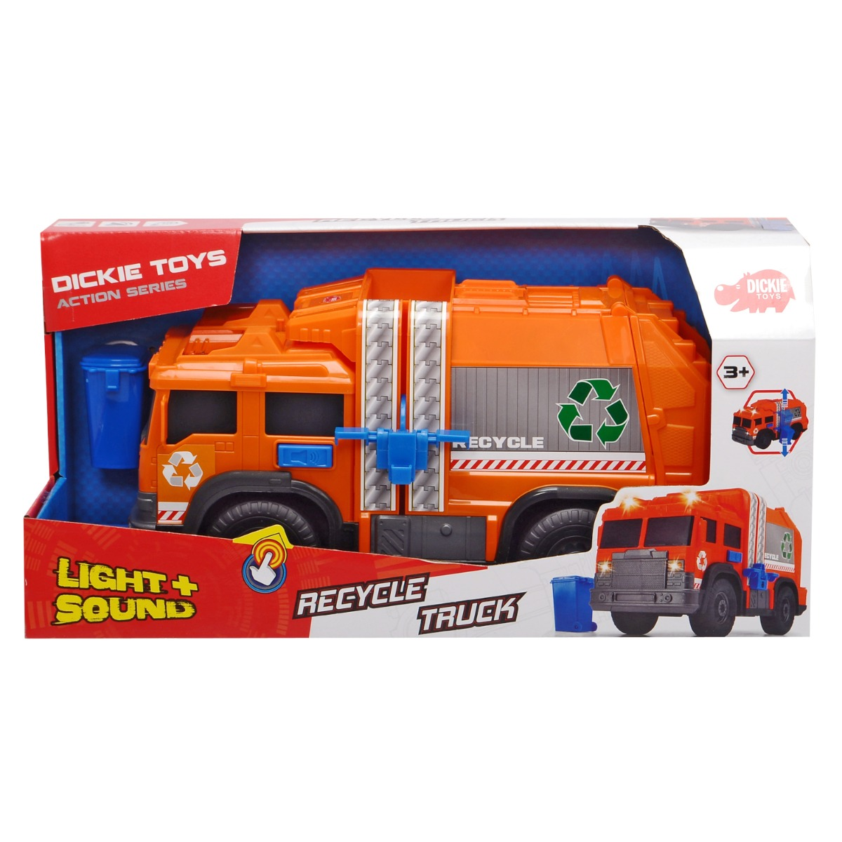 Masinuta de reciclare Dickei Toys Recycle Truck imagine