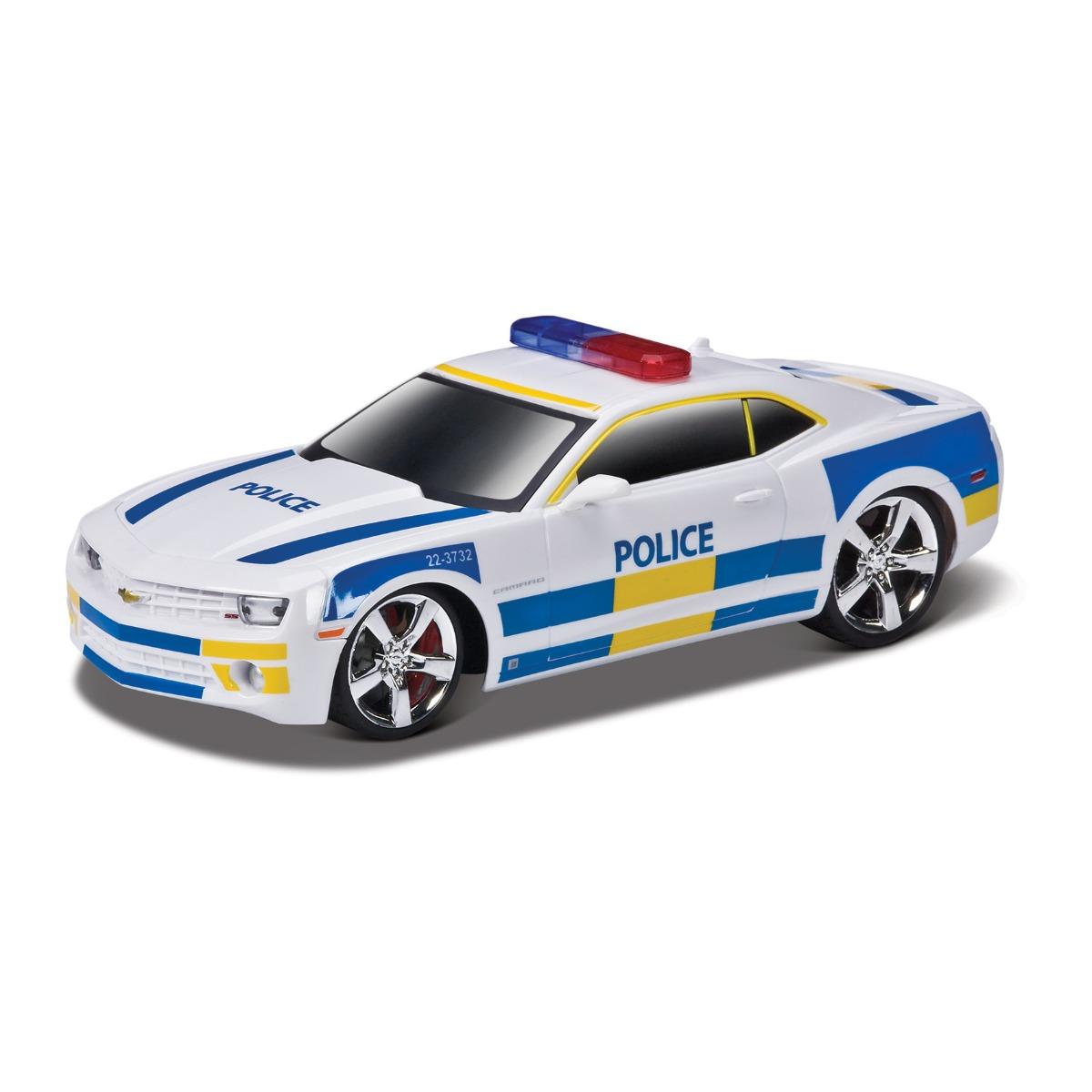 Masinuta Maisto MotoSounds Chevrolet Camaro SS RS 2010 (masina de politie) 1:24, Alb