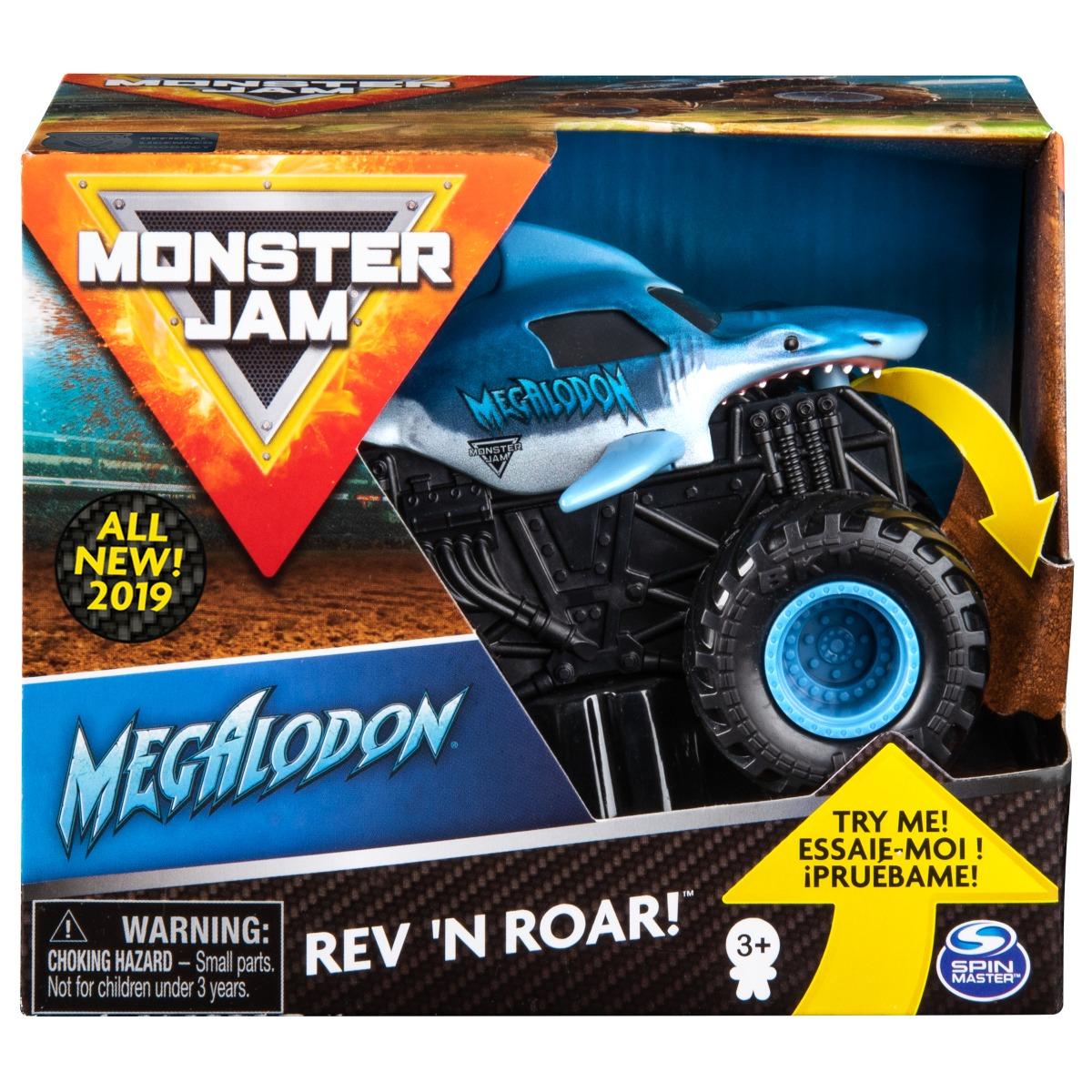 Masinuta Monster Jam, Scara 1:43, Megalodon Rev N Roar