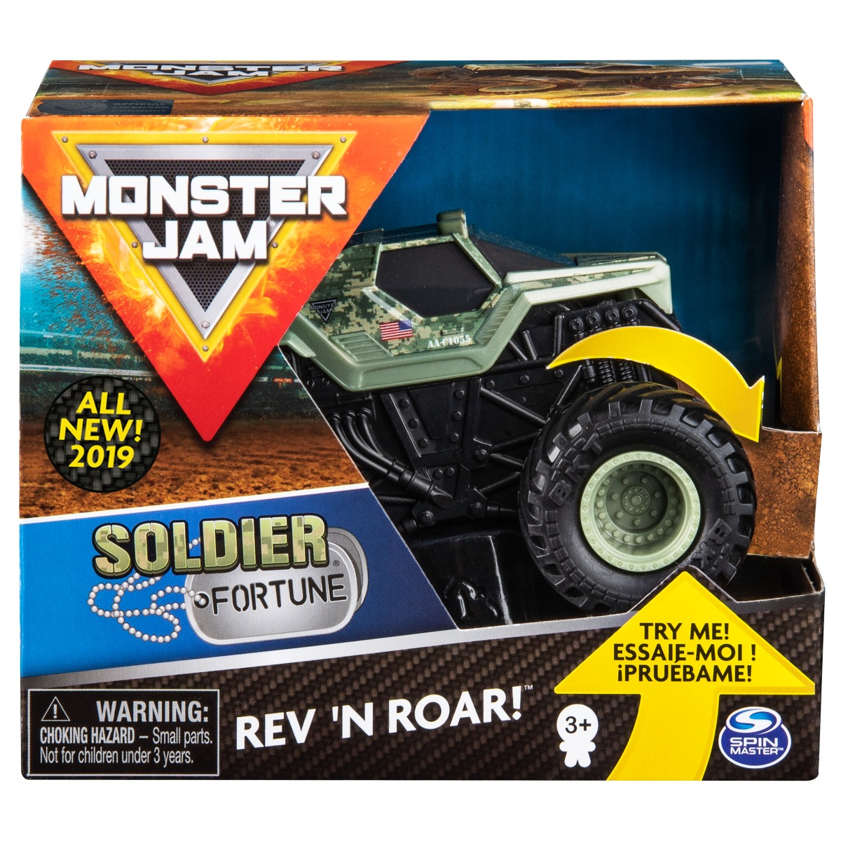 Masinuta Monster Jam, Scara 1:43, Soldier Fortune Rev N Roar
