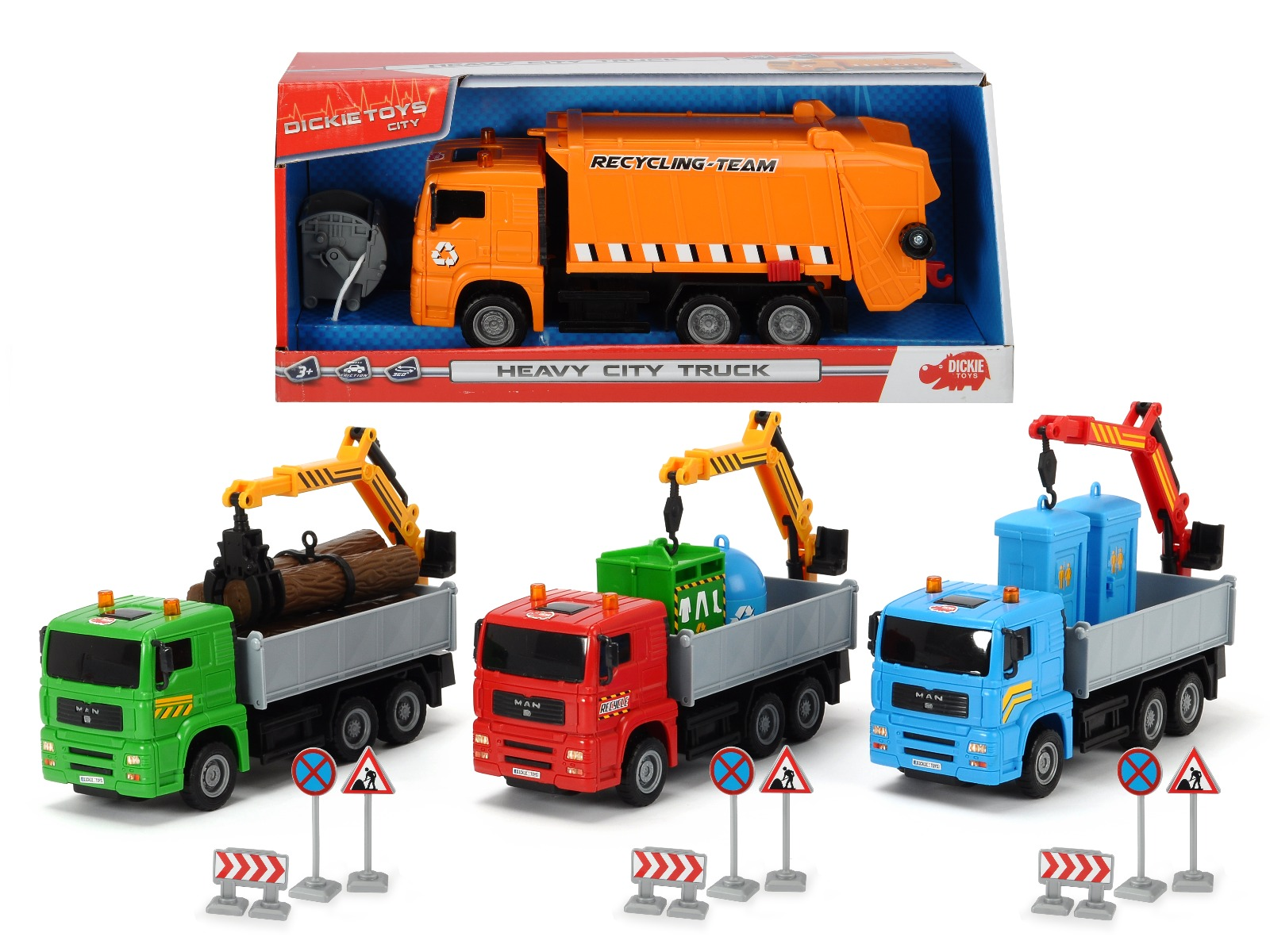 Masinuta utilitara Dickie Toys City Truck