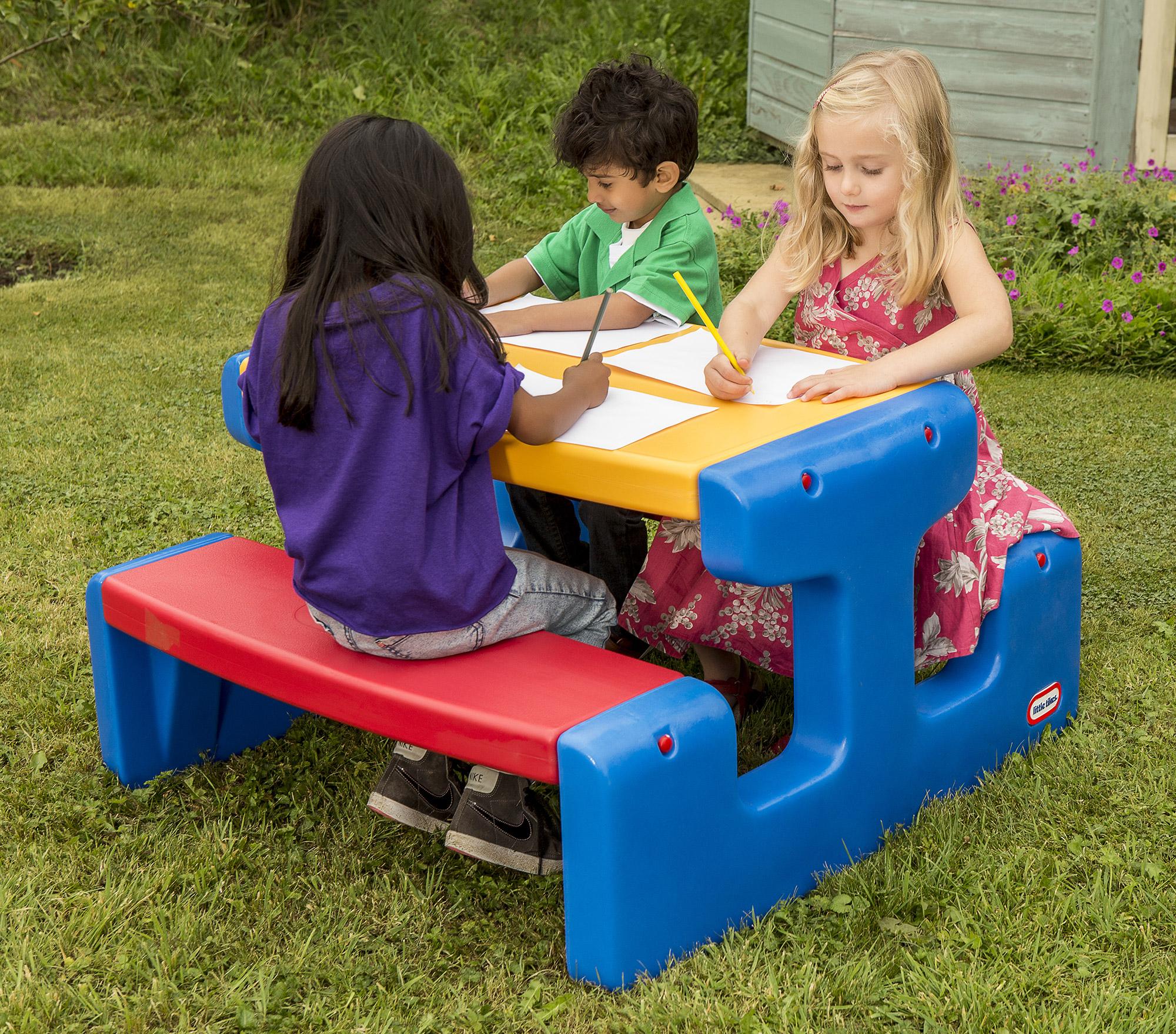 masuta copii little tikes picnic - albastru