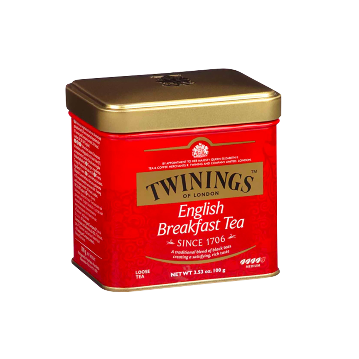 Ceai negru English Breakfast Twinings, Cutie metal, 100 g imagine