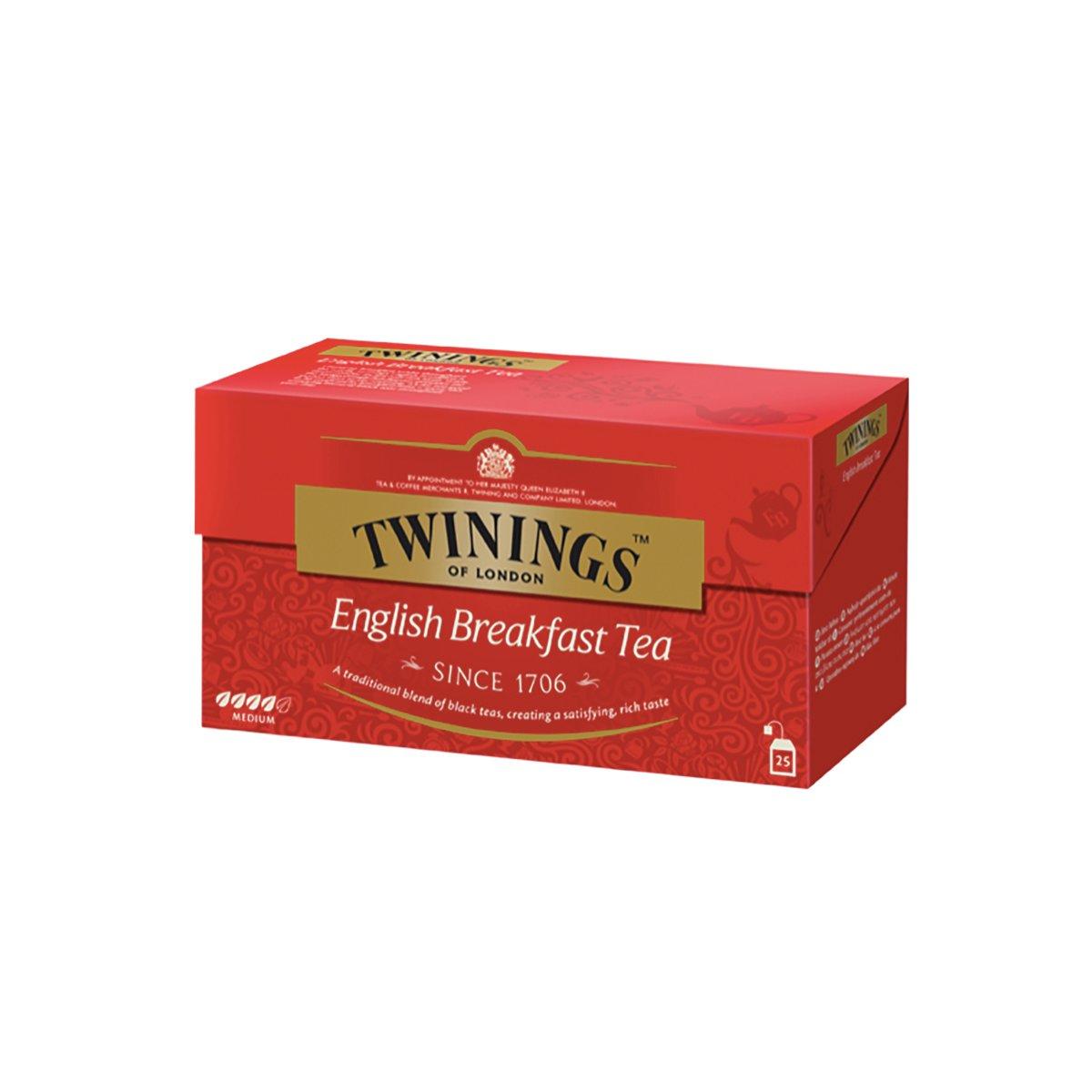 Ceai negru English Breakfast Twinings, 25 x 2 g imagine