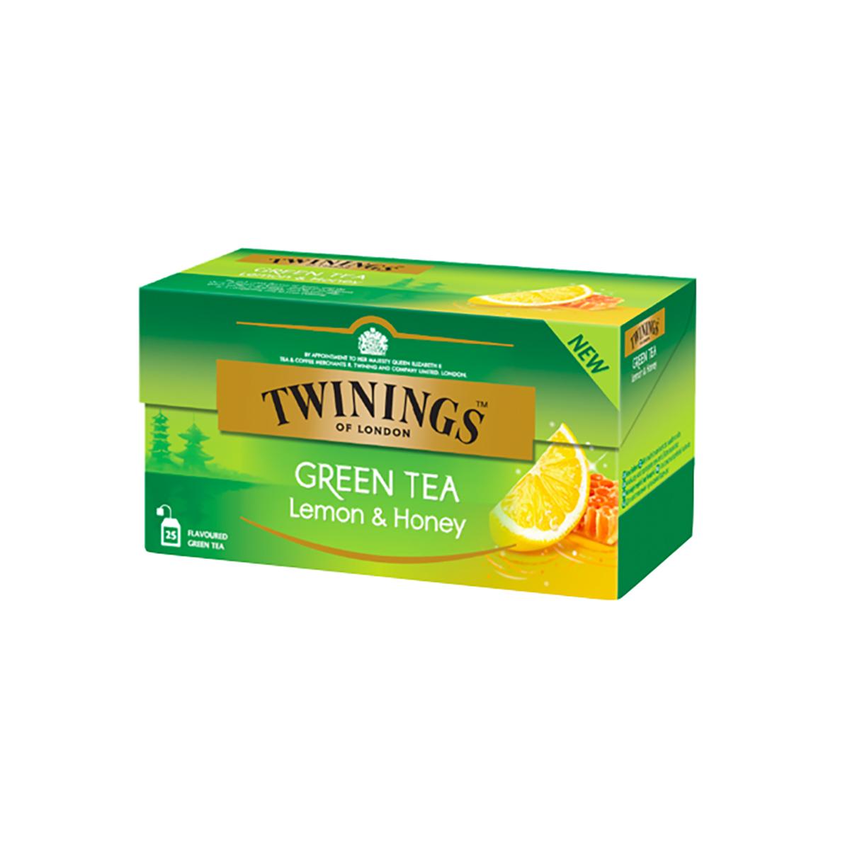 Ceai verde cu aroma de lamaie si miere Twinings, 25 x 1,6 g imagine