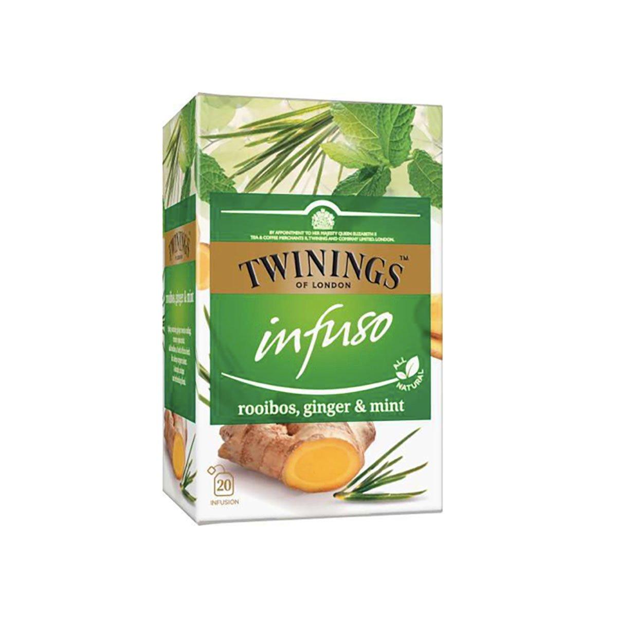 Ceai infuzie Rooibos, Ghimbir si Menta Twinings, 20 x 2 g imagine