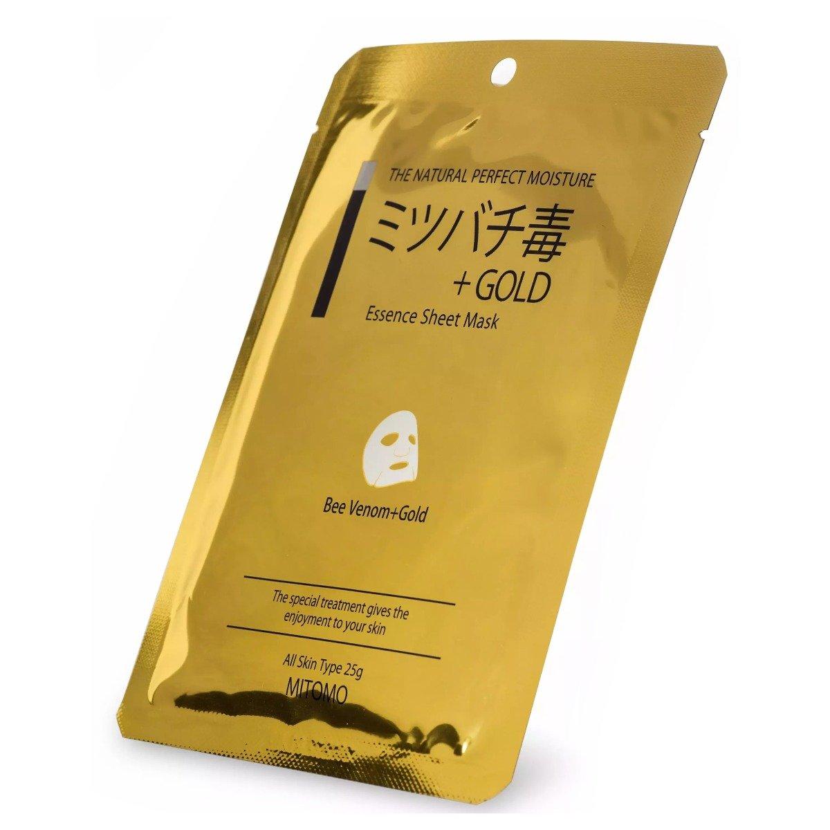 Masca pentru fata Mitomo Bee Venom + Gold, 1 buc imagine