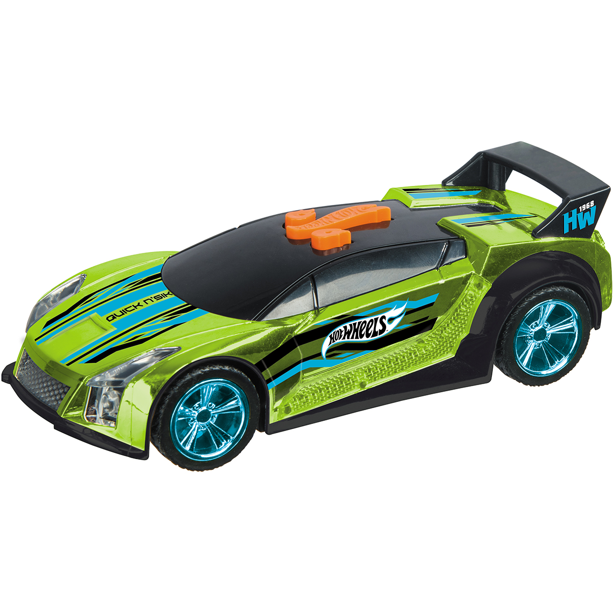 Masinuta cu lumini si sunete Hot Wheels, Quick and Sik, Verde
