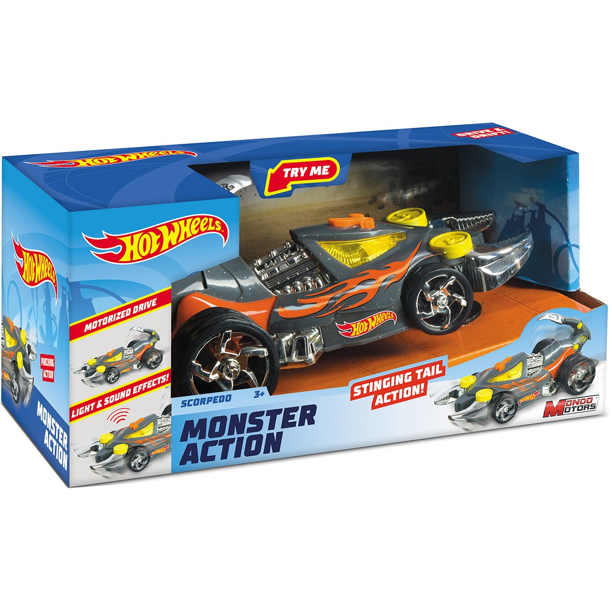 Masinuta cu lumini si sunete Hot Wheels, Monster Action, Scorpedo