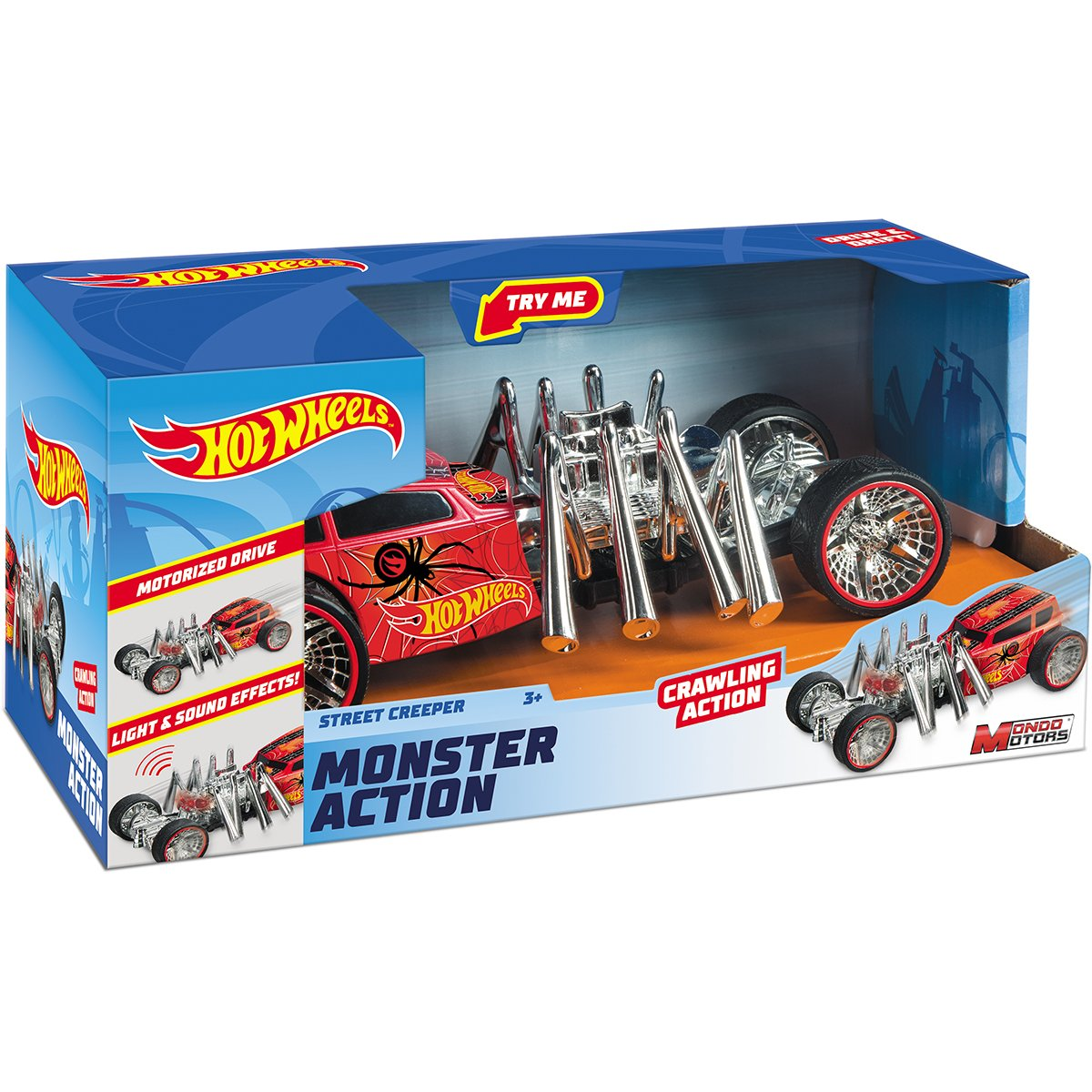 Masinuta cu lumini si sunete Hot Wheels, Street Creeper