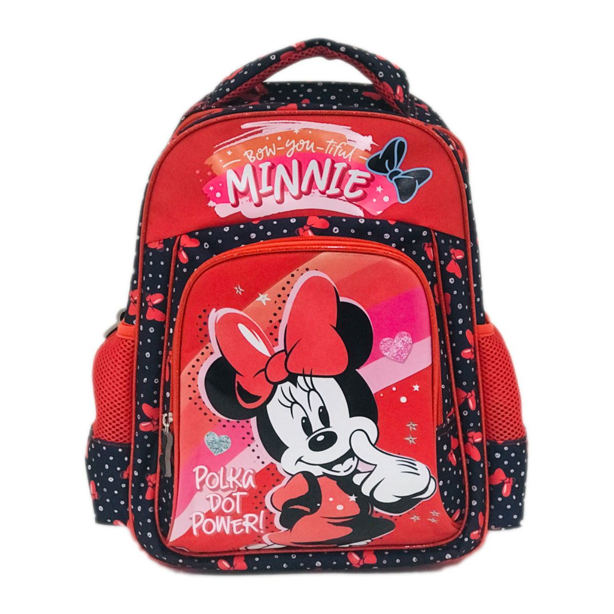 Ghiozdan midi Minnie Mouse compartimentat