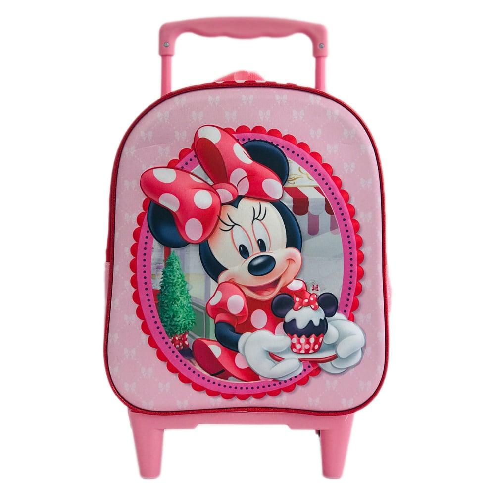 Ghiozdan 3D mini tip troler Minnie Mouse