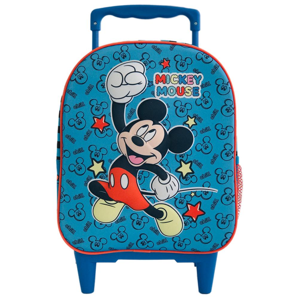 Ghiozdan 3D mini tip troler Mickey Mouse