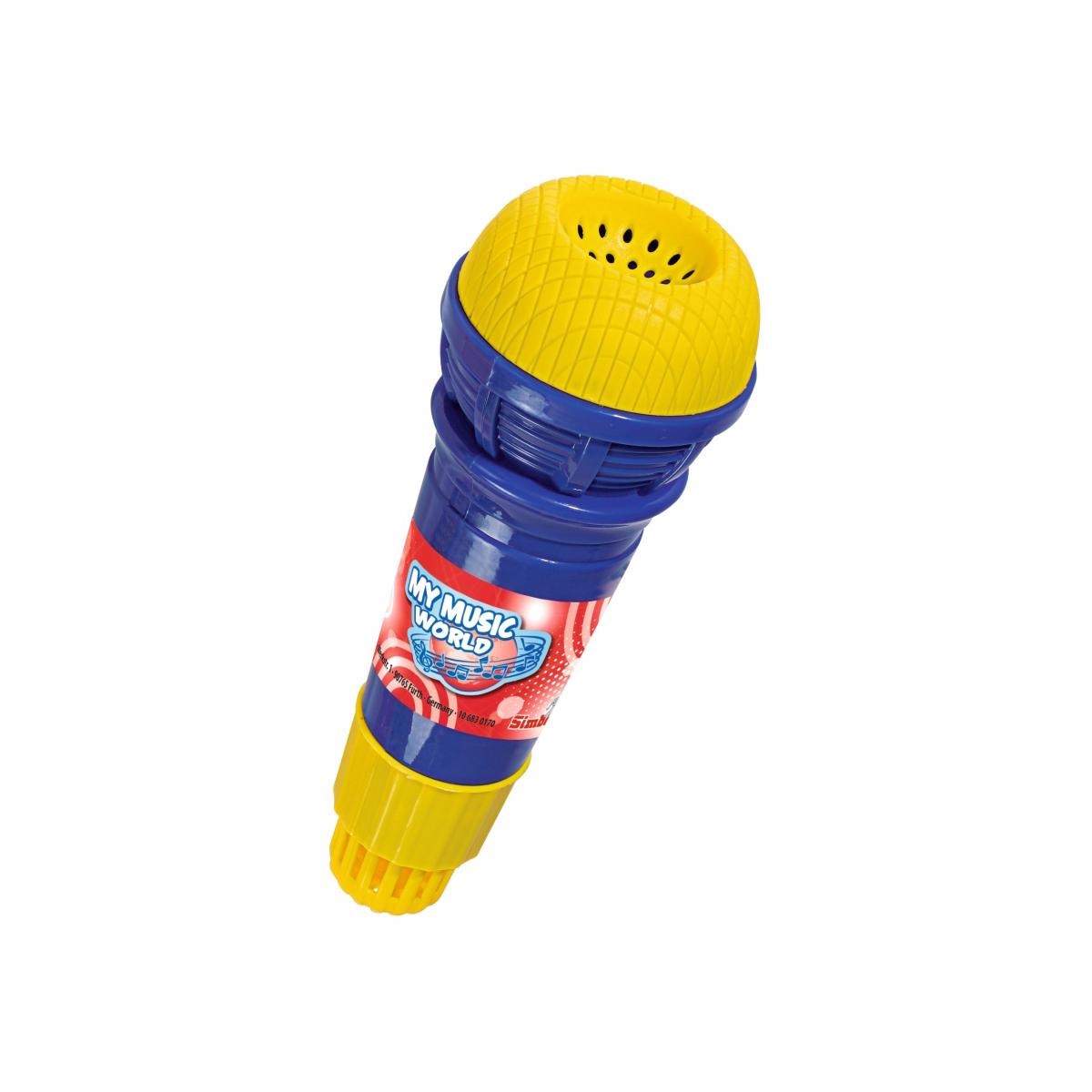 Microfon cu ecou Simba, 24 cm, albastru/galben