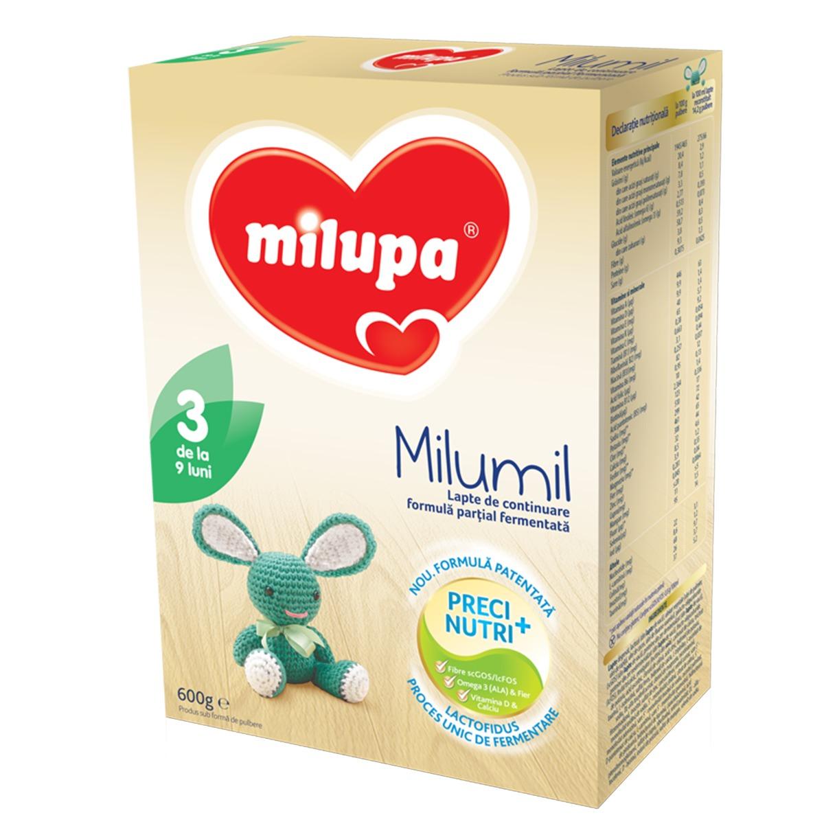 Milupa Milumil 3, Lapte de continuare, 600g imagine