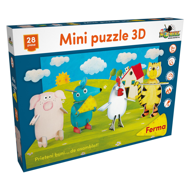 mini puzzle 3d noriel - ferma, 28 piese