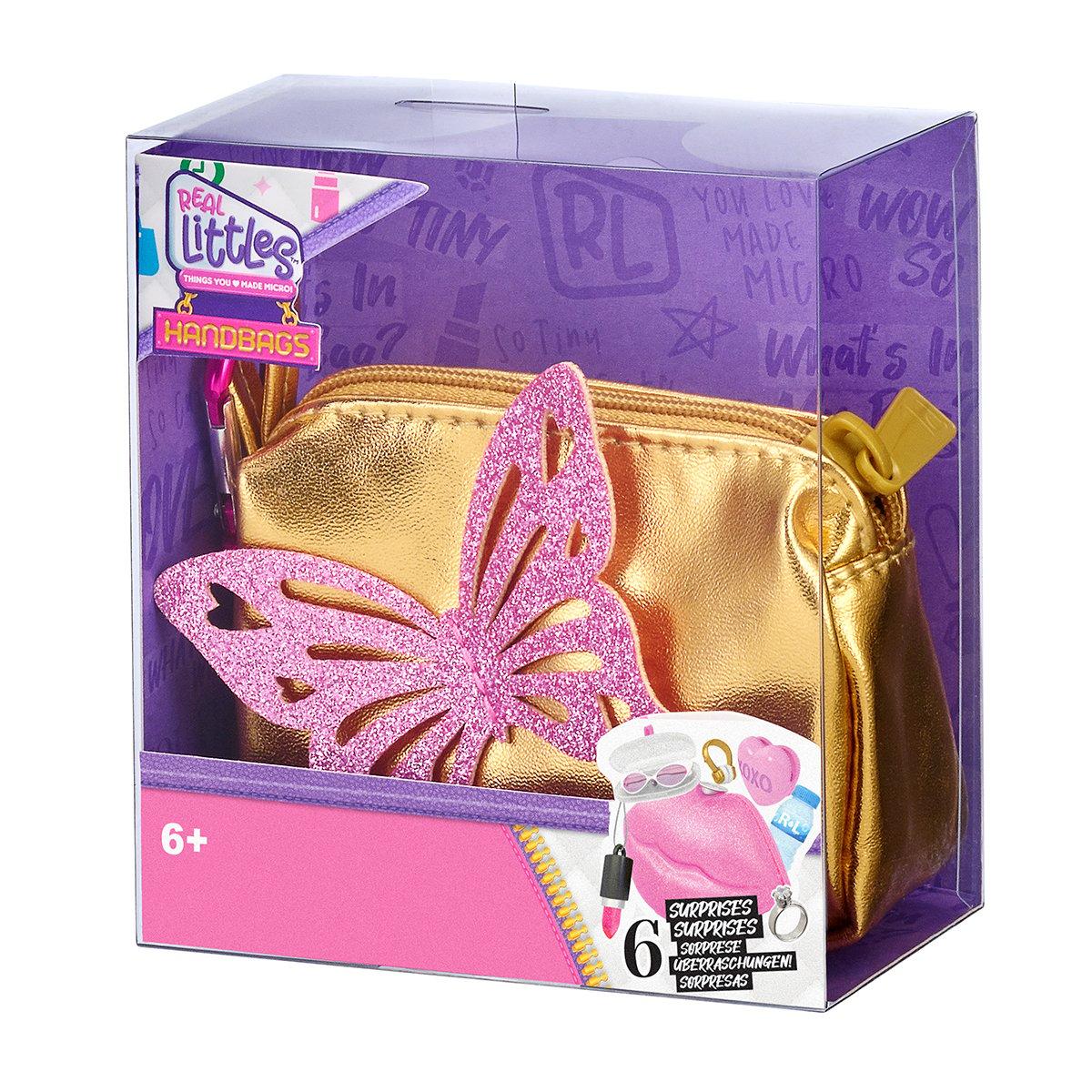 Mini gentuta de mana cu 6 surprize, Real Littles, Handbag, S3, Auriu