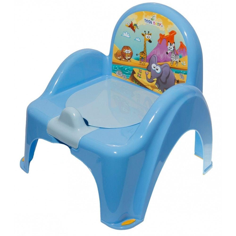 Mini toaleta Tega-Baby Safari, Albastru imagine