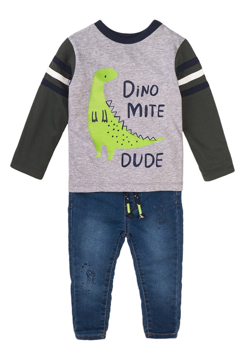Set bluza sport si pantaloni jeans Minoti Baby, Mite
