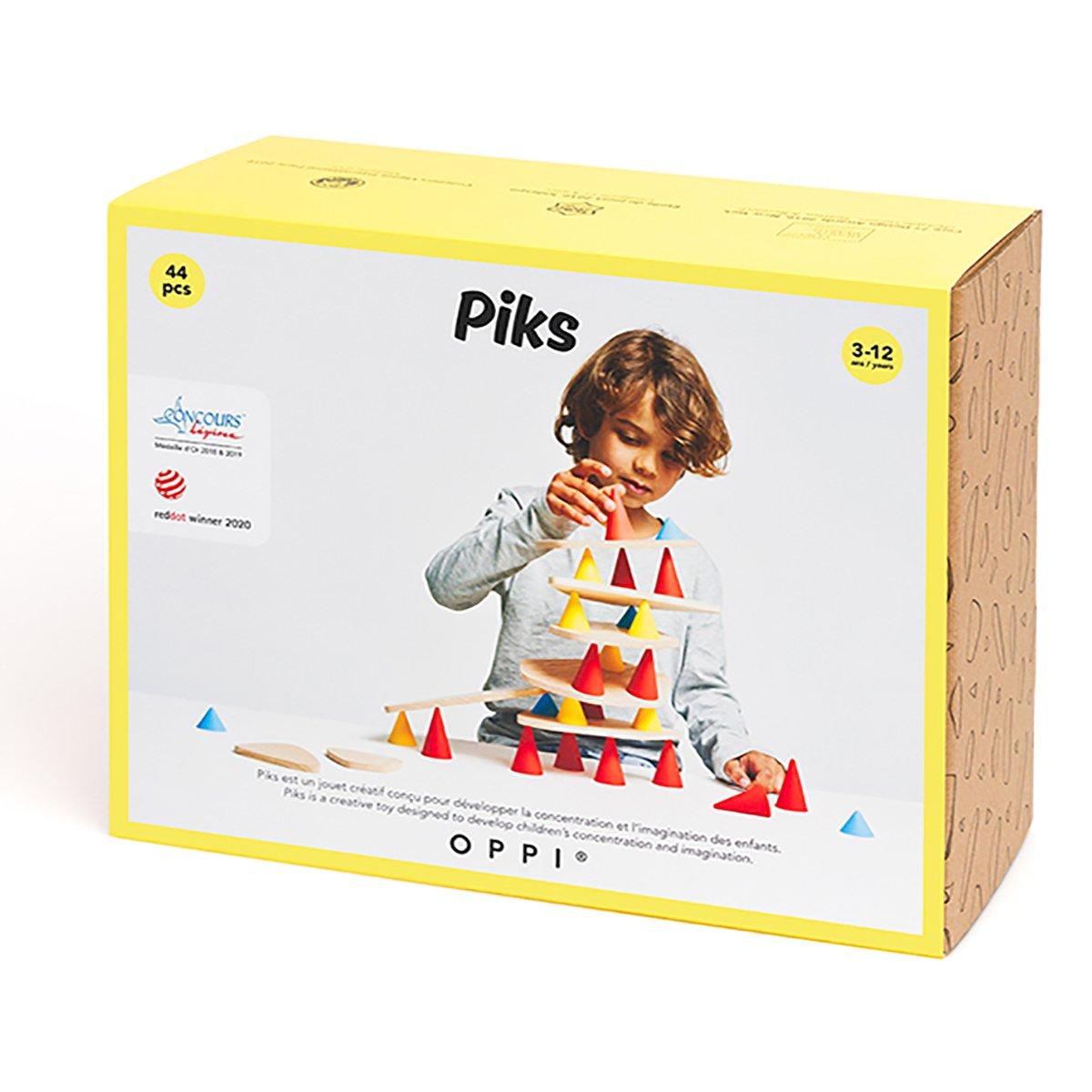 Joc educativ Piks, Kit mediu, 44 piese