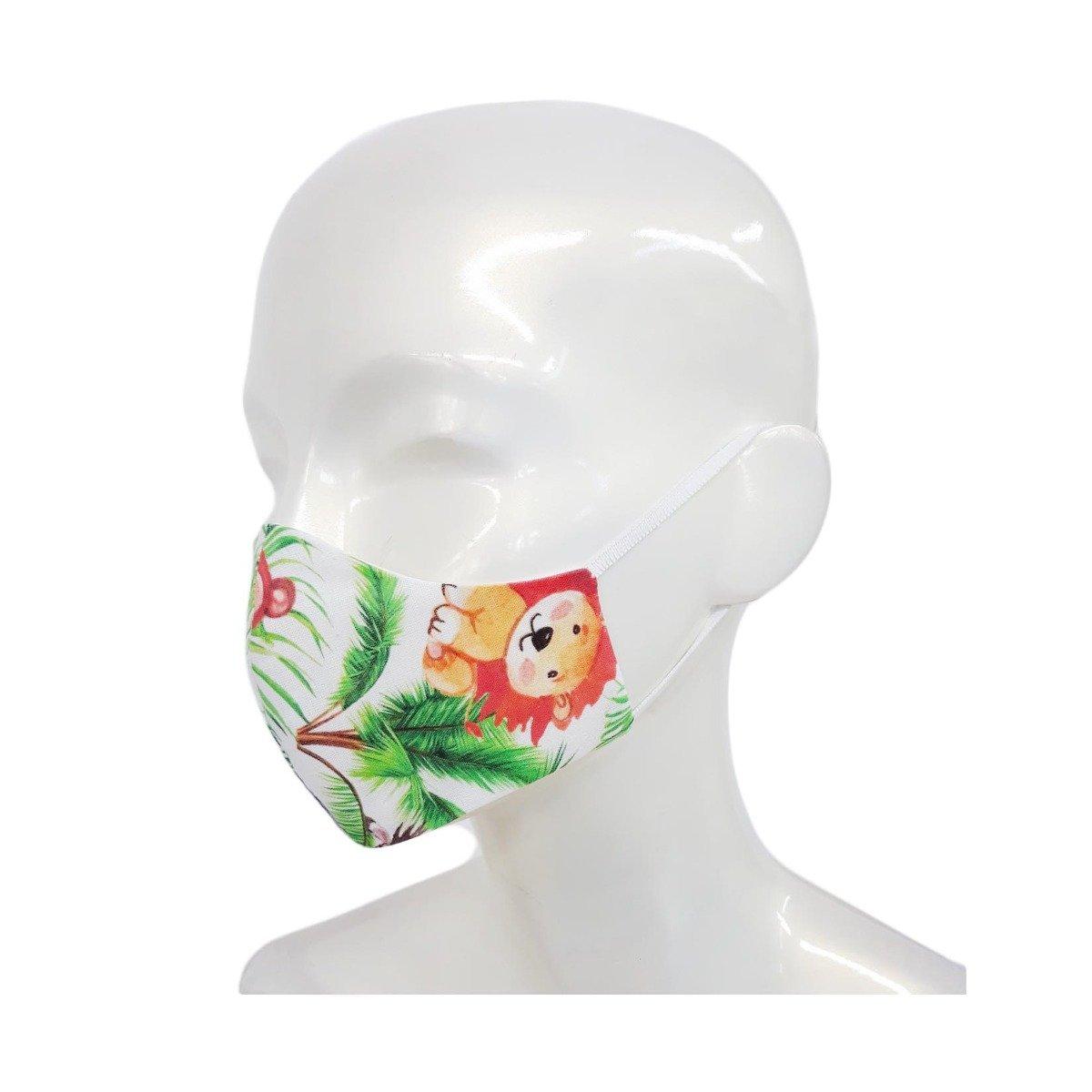 Set 2 bucati, Masca de fata, copii 3-6 ani, forma anatomica, reutilizabila, Noriel, Jungla imagine