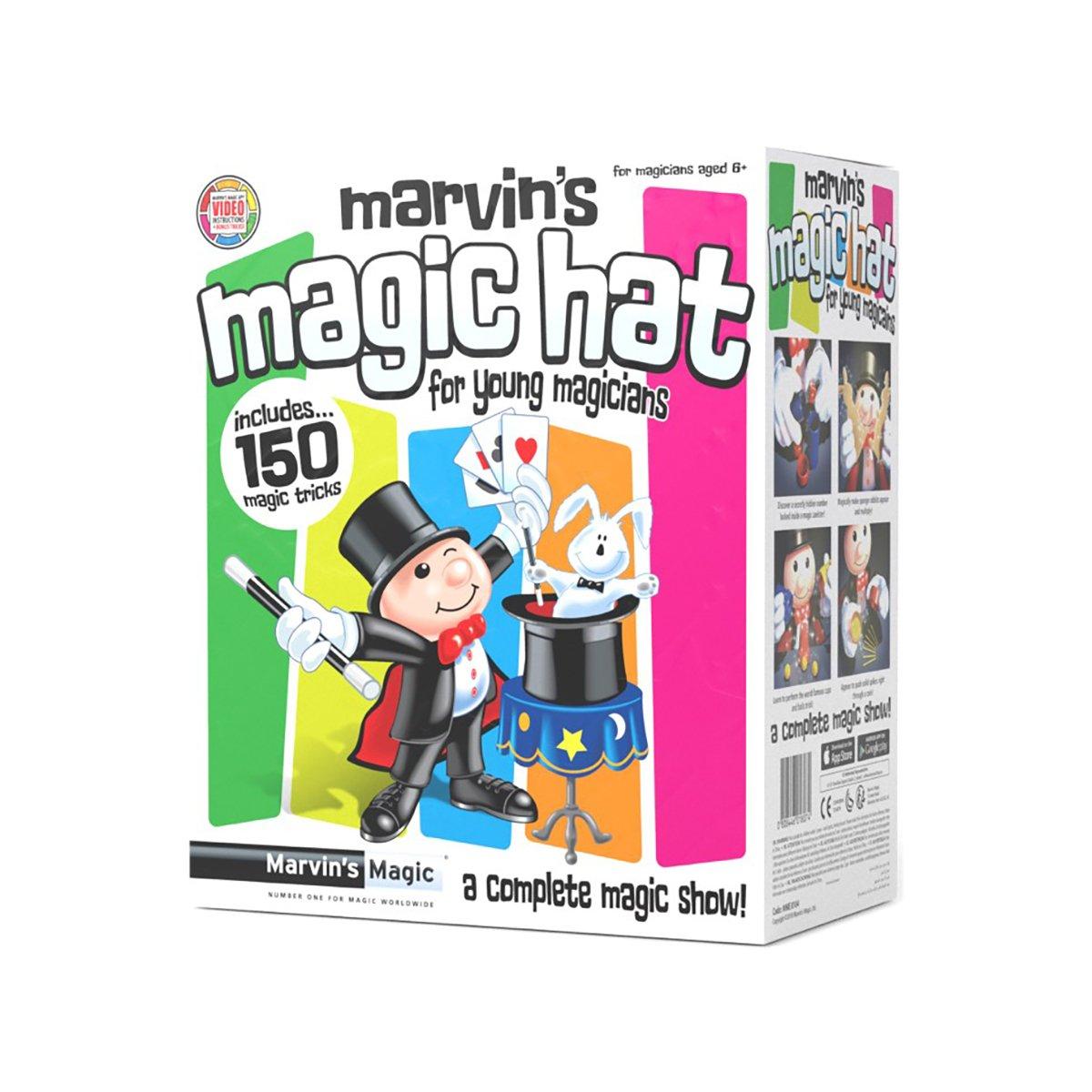 Set Marvin's Magic - Magic Hat - 150 trucuri de magie imagine 2021