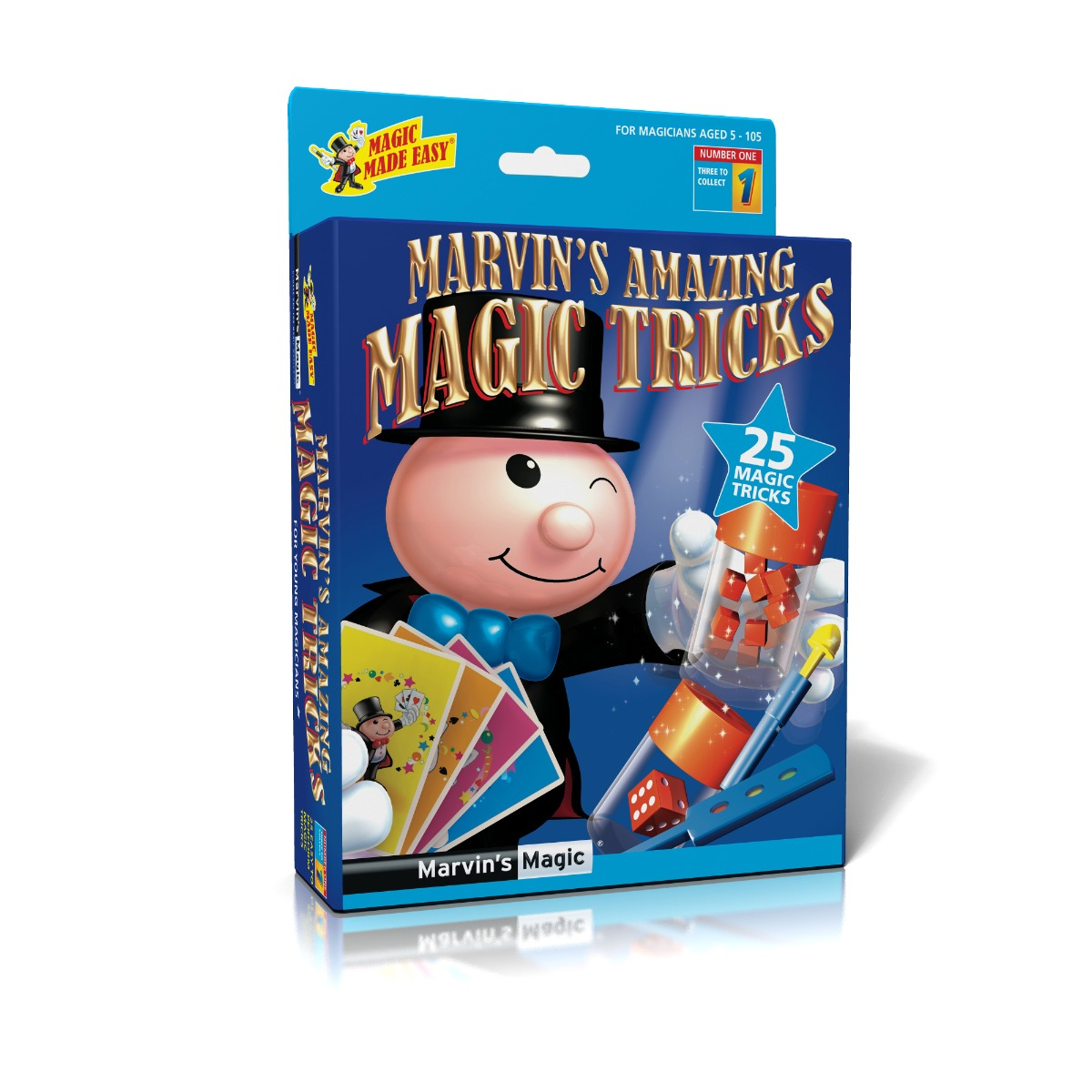 Set de magie 25 de trucuri Marvin Magic, Albastru