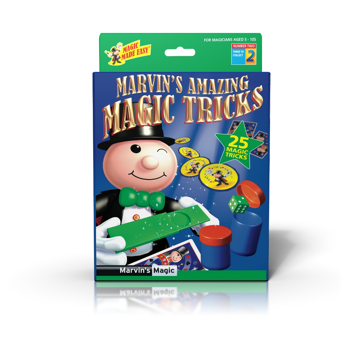 Set de magie 25 de trucuri Marvin Magic, Verde