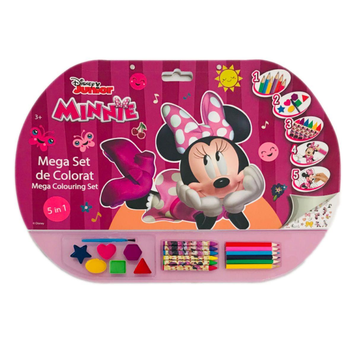 Mega Set de colorat 5 in 1, Minnie