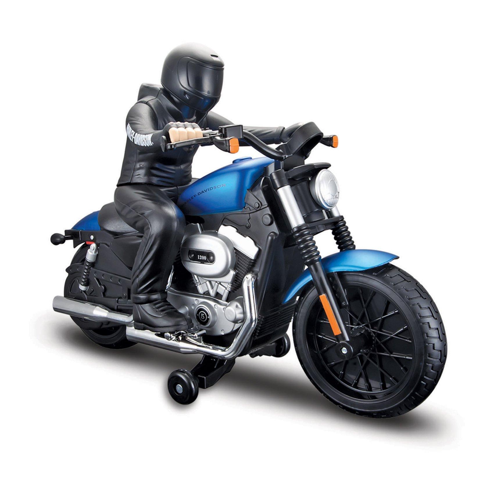 Motocicleta cu telecomanda Maisto Harley-Davidson Nightster XL 1200N-Albastru
