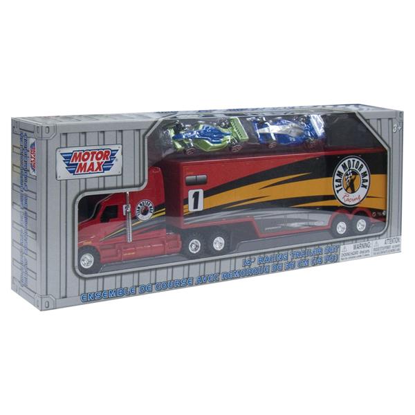 motormax - trailer cu 2 masini de curse
